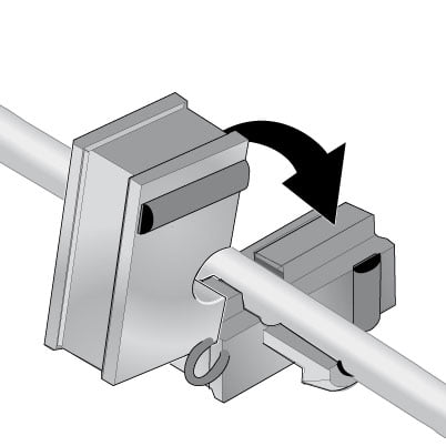 1 Introdu cablul in mansonul adecvat si inchide mansonul pe conductor incat sa fie cuprins complet si sa fie etansat