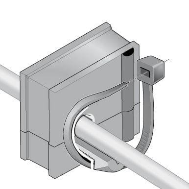 2 Pentru o fixare mai ferma cablul se poate prinde cu un colier brida faseta de plastic de manson sa ofere o detensionare mecanica aditionala