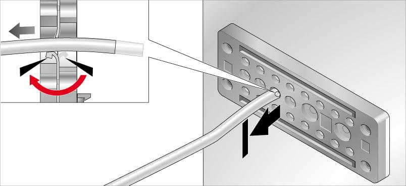 Fixarea cablurilor in placile de trecere Murrplastik