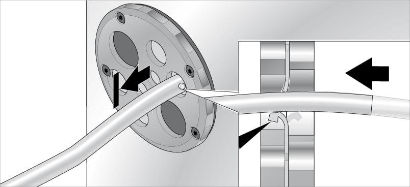 Fixarea cablurilor in placile de trecere rotunde KDP-R Murrplastik