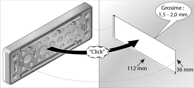 Montajul prin inclichetare a placilor de trecere Murrplastik