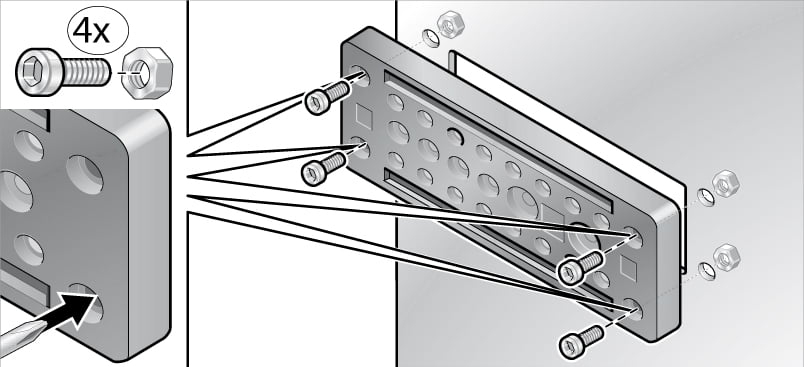Montajul prin insurubare a placilor de trecere Murrplastik