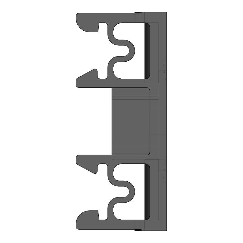 KAF Suporti cu fixare pe sina - vedere laterala - profil