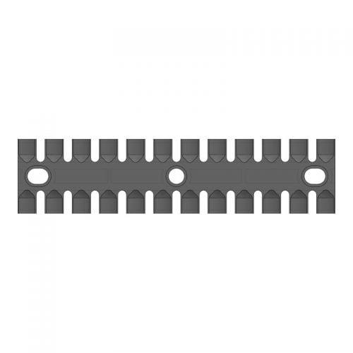 Placa de fixare pentru 12 cabluri. Lungime 180 mm. Montaj prin suruburi (neincluse). 2D