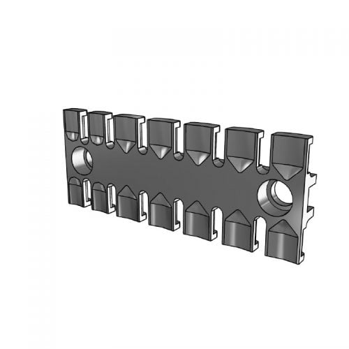 ZL 103 - Suport prindere 7 cabluri - Certificat tehnologia de cai feroviara (EN 45545-2 2013). Densitate mare de cabluri, tuburi, furtunuri. 3D