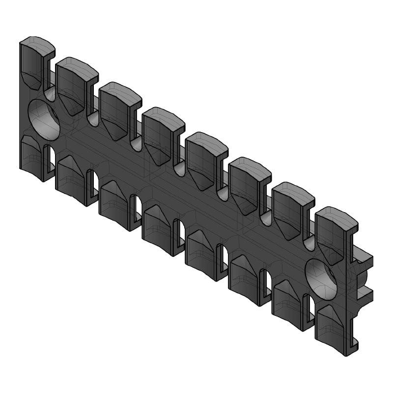 ZL 121 - Suport de prindere pentru 8 cabluri Murrplastik