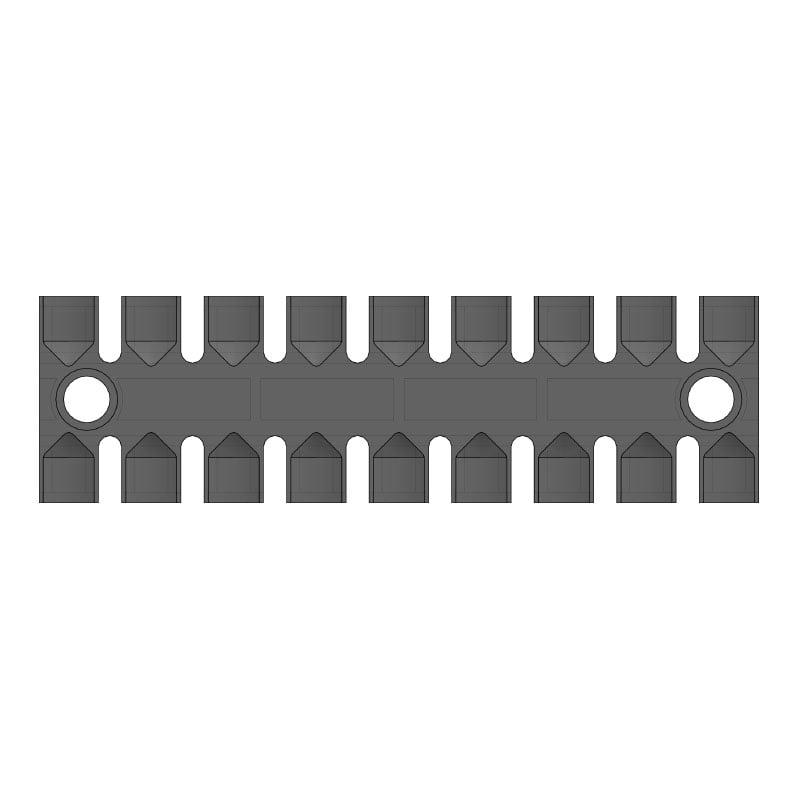 ZL 140 - Suport prindere 8 cabluri - Rezistent UV. 2D
