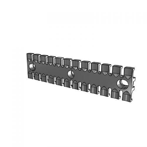 ZL 180 - Placa de prindere pentru max 12 cabluri, tuburi si furtunuri intr-un mod sigur, usor si eficient. Rezistenta UV, Rezistenta la foc, -40...+125 grade Celsius. 3D