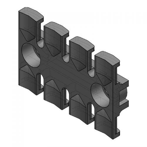 ZL 60 - Suport de prindere pentru 4 cabluri Murrplastik