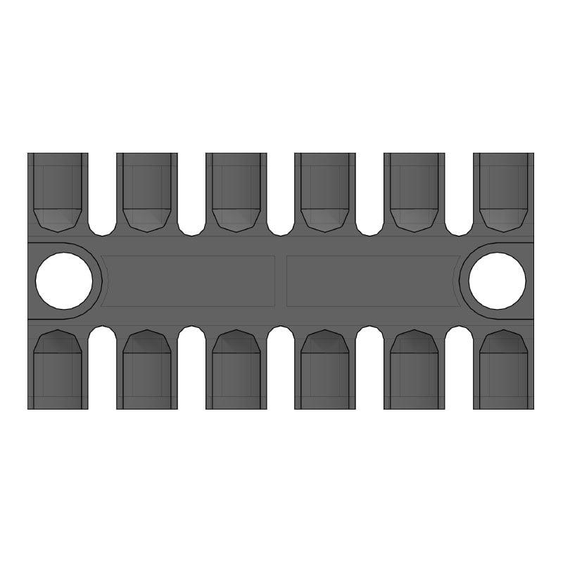 ZL 80 - Placa de prindere pentru 6 cabluri - certificat tehnologia feroviara 2D