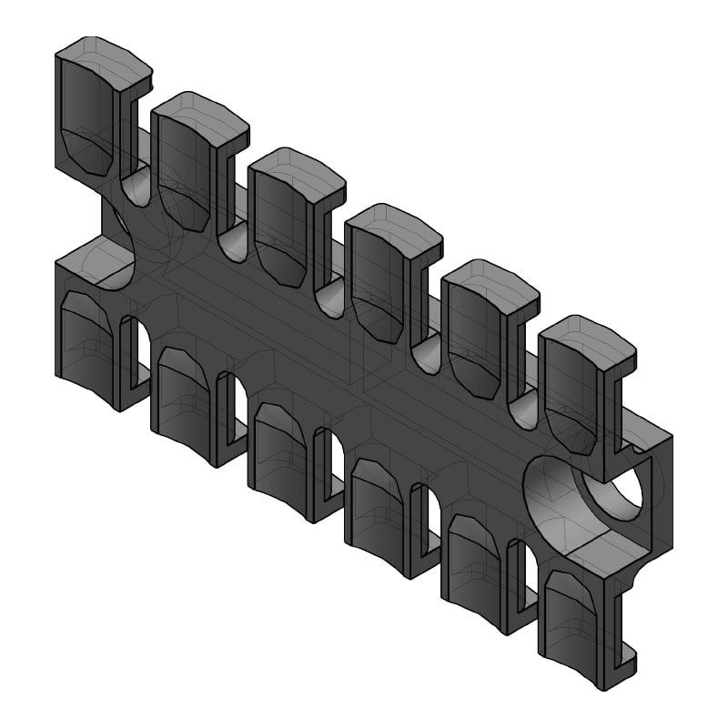 ZL 80 - Suport de prindere pentru 6 cabluri Murrplastik