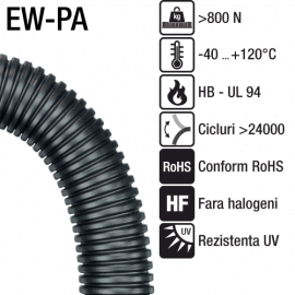 Tuburi flexibile rezistente UV, fara halogen | seria EW-PA