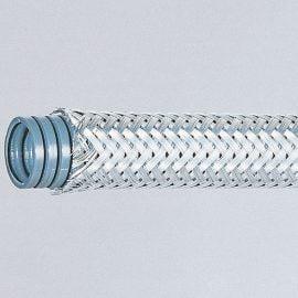 Tub flexibil de protectie cu impletitura metalica protectie mecanica ridicata. Aplicatii EMC, sudura si aplicatii unde cablurile trebuie protejata impotriva solidelor fierbinti