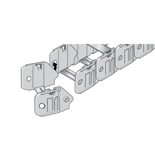 Asamblare si dezasamblare rapida si usoara a lanturilor portcablu de 35 mm Se pot instala si dezinstala cu usurinta direct la punctul de lucru
