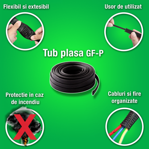 Avantaje trese tuburi plasa tesute impletite din poliester de calitate inalta Ignifuge proprietati auto-stingere niveluri scazute fum in caz incendiu foc