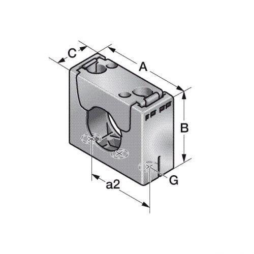 Brida tip suport tuburi desen schita tehnica instalare pe masini tablouri instalatii electrice dulapuri de comanda