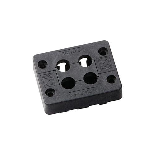Cadru KDL-D 6-4 robust intrare 4 cabluri mici 2 12 mm cu conector mufate conectate sau fara mufa