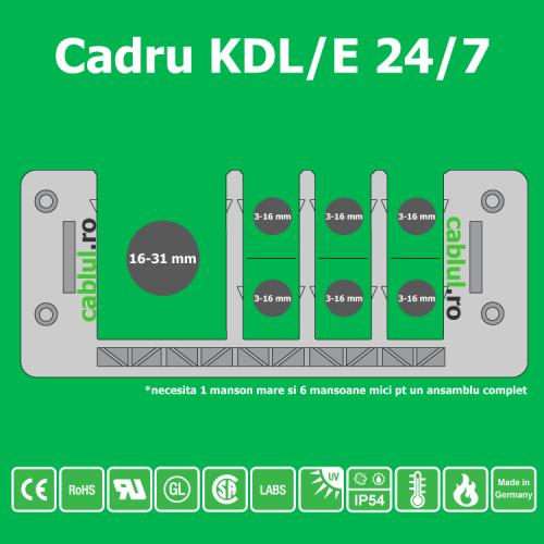 Cadru-KDL-E-24-7 Sistemul se integreaza usor in decupajul metalica prin cleme speciale inclus in pachet pt grosime de 1 5 mm