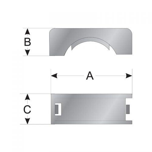 Capace clema fixare montaj organizare tuburi copex flexibile de protectie cabluri electrice Desen tehnica dimensiuni montaj instalare