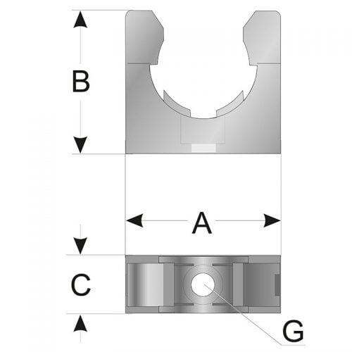 Cleme copex Desen tehnic montaj gaura de instalare fixare si prindere Dimensiuni tub flexibil riflat de protectie Inaltime Latime Lungime Omologare feroviara