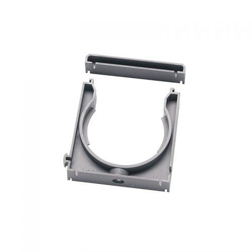 Clips prindere tub copex flexibil riflat de protectie cabluri fire si conductori electrici cu capac Aplicatii cu forte de tragere smulgere
