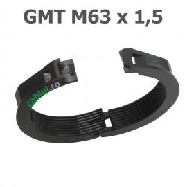 Contrapiulita divizibila metric 63 poliamida PA 6 ignifugat conform V0 material listat UL pas 1 5 grosime 10 mm diametru total 79 GMT M63