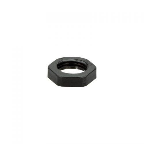 Contrapiulita neagra M16 x 1,5 grosime 5 mm Dimensiune cheie 22 Piulita de blocare ignifuga autostingere fara halogen RoHS Halogen free V0 UL 94