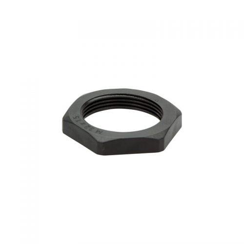 Contrapiulita neagra M32 x 1,5 utilizabile cu filete de plastic de presetupe conectori racorduri fitinguri Piulita de blocare calitate inalta poliamida ignifuga fara halogen