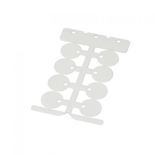 Disc alb de identificare rotunda 25 mm fara halogen material PC de inalta calitate pt marcarea etichetarea ulterioara a cablurilor electrice firelor conductelor