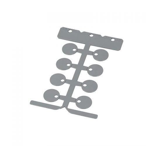Disc eticheta rotunda gri fara halogen 20 mm de inalta calitate placuta rotunda policarbonat pt marcarea ulterioara a cablurilor liniilor furtunurilor