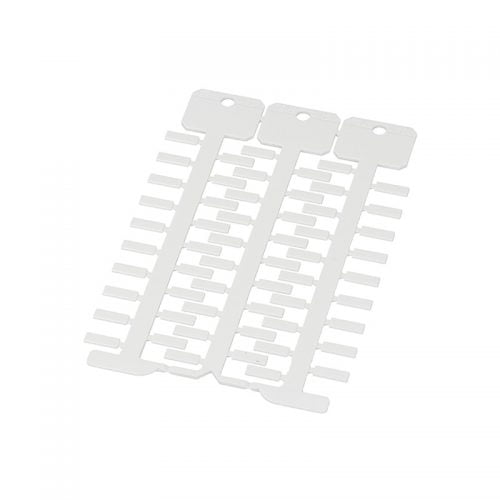 Eticheta 4 x 12 mm culoare alba instalare in tile port etichete transparente Proprietati electrice si dielectrice Marcare instalatii electrice