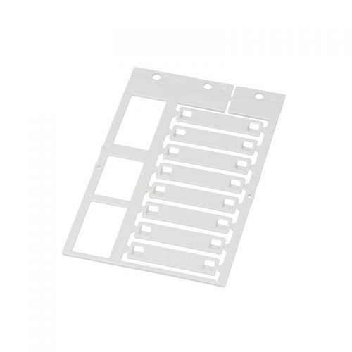 Eticheta alba 10 x 45 mm pt marcaje cabluri fire conductori tevi brate masinarii tuburi copex riflate furtunuri etc