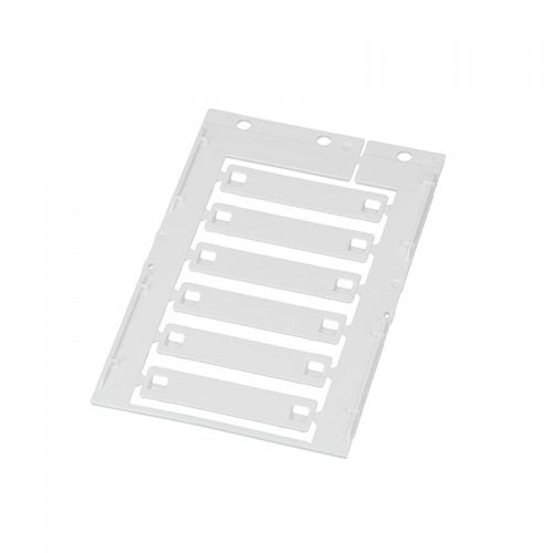 Eticheta alba 12 x 55 mm pt marcare cabluri fire conductori electrici instalatii sisteme tuburi tevi montaj prin intermediul colierelor
