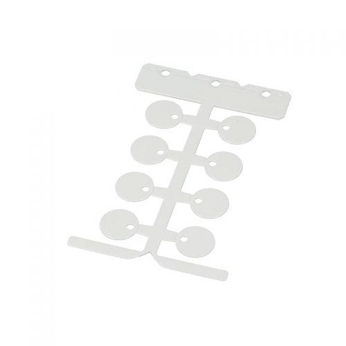 Eticheta alba 20 mm rotunda pt marcare etichetare orice prin intermediul colierelor Etichete fara halogeni in caz de incendiu emana mai putine substante toxice
