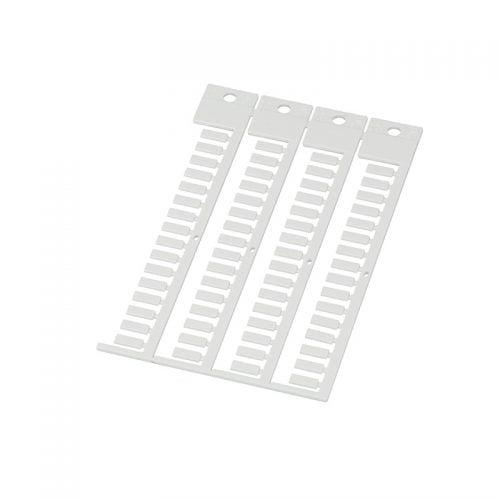 Eticheta alba 4 x 10 mm pt tile transparente Se poate imprima cu plotter inkjet sau scris de mana Material policarbonat Rezistenta la foc ignifuga V-0 Fara halogen