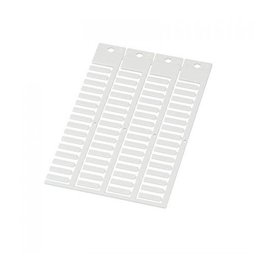 Eticheta alba 4 x 15 mm cabluri electrice fire conductoare instalatii tablouri Material policarbonat rezistent la impact temperaturi incendii