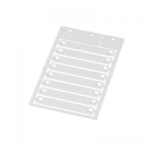 Eticheta alba cablu 70 x 10 mm Aplicare cu coliere de plastic Marcarea firelor si a conductorilor ofera ordine in instalatii si faciliteaza intretinerea si depanarea