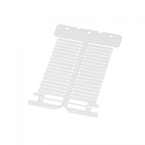 Eticheta alba suprafata lucioasa 4 x 30 mm instalatii electrice cabluri fire conductoare tablouri electrice dulapuri comanda masinarii