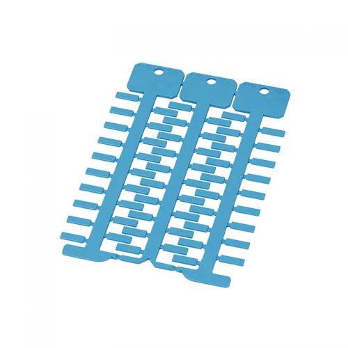 Eticheta albastra 4 x 12 mm Identificati cabluri fire conductorare electrice in instalatii tablouri panouri dulapuri de comanda Culoare albastru