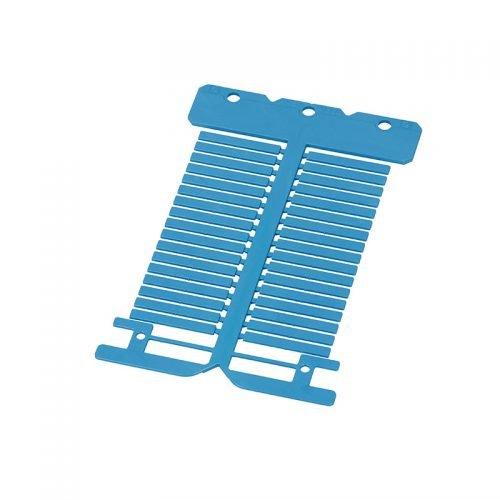 Eticheta albastra lungime 30 mm latime 4 mm Fabricate din policarbonat premium fara halogen material ignifugat Instalare in tile transparente