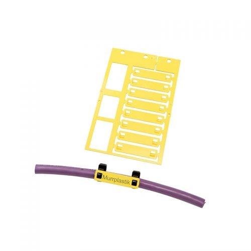 Eticheta cablu 10 x 45 Marcare directa montaj coliere de plastic fasete bride panduiti Identificare conductori instalatii electrice