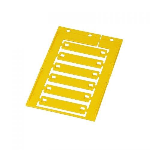 Eticheta cablu 12 x 55 mm culoare galbena Marcaje fire electrice conductori prin intermediul colierelor panduitilor bridelor fasetelor