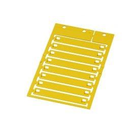 Eticheta galbena 10 x 70 mm montaj direct coliere Policarbonat de inalta calitate ignifug fara halogen rezistent la temperaturi KSM 70x10 PC