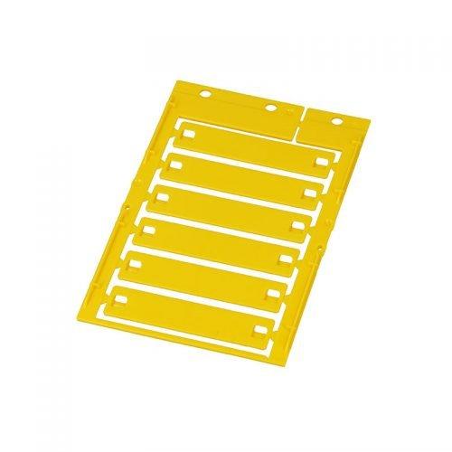 Eticheta galbena 14 x 65 mm Ideal pt etichetarea ulterioara a cablurilor firelor conductorilor electrici tuburilor riflate copex furtunuri pneumatice si hidraulice tevi