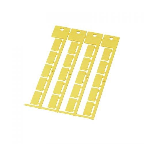 Eticheta galbena 20 x 9 mm RAL 1018 Aplicabilitate universala datorita instalarii in tile port etichete transparente