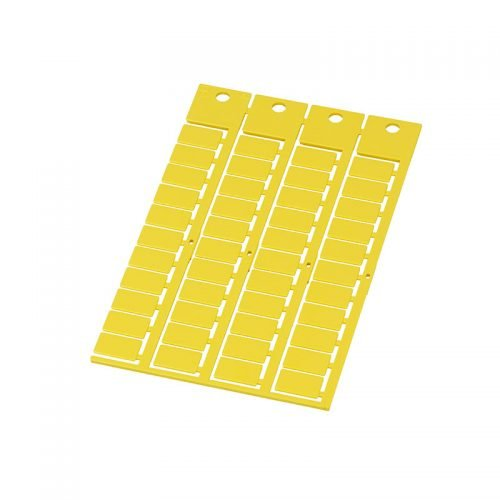 Eticheta imprimabila galbena 15 x 9 mm Marcare simboluri caractere cu laser inkjet imprimanta uz industrial Solutie instalatii