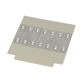 Eticheta inox 60x15 mm 2x gauri montaj 3,5 mm grosime 0,5 mm identificare cabluri conductori electrice medii extreme etichete foarte rezistente otel inoxidabil