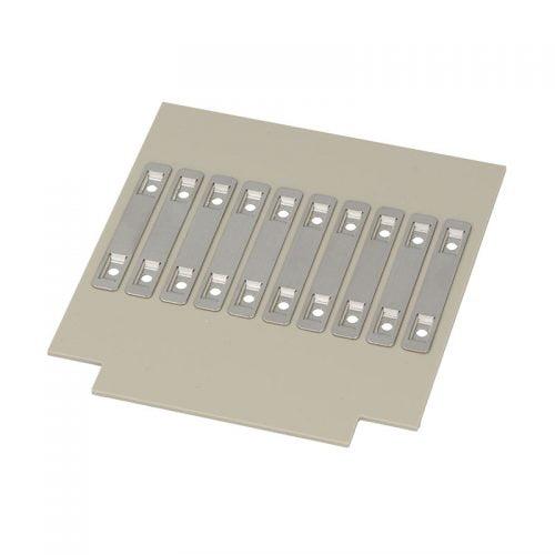 Eticheta inox 60x9 mm 2x gauri identificare cabluri Zona imprimabila 28 x 9 Etichete metalice otel inoxidabil V4A fixare coliere plastic Pret avantajos