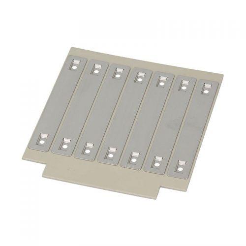 Eticheta metalica inox mare 100 x 15 mm inscriptionabila cu aparat laser pt marcare cabluri in instalatii electrice medii dure conditii extreme rezistenta mecanica