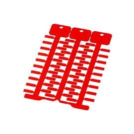 Eticheta rosie 4 x 12 mm Marcarea firelor cablurilor conductoarelor electrice ofera ordine in instalatii si faciliteaza intretinerea depanarea Culoare rosu